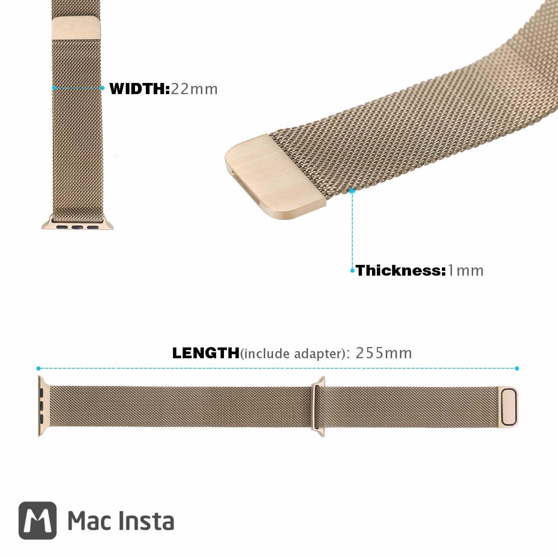 Kích thước các chiều của dây Milanese Loop