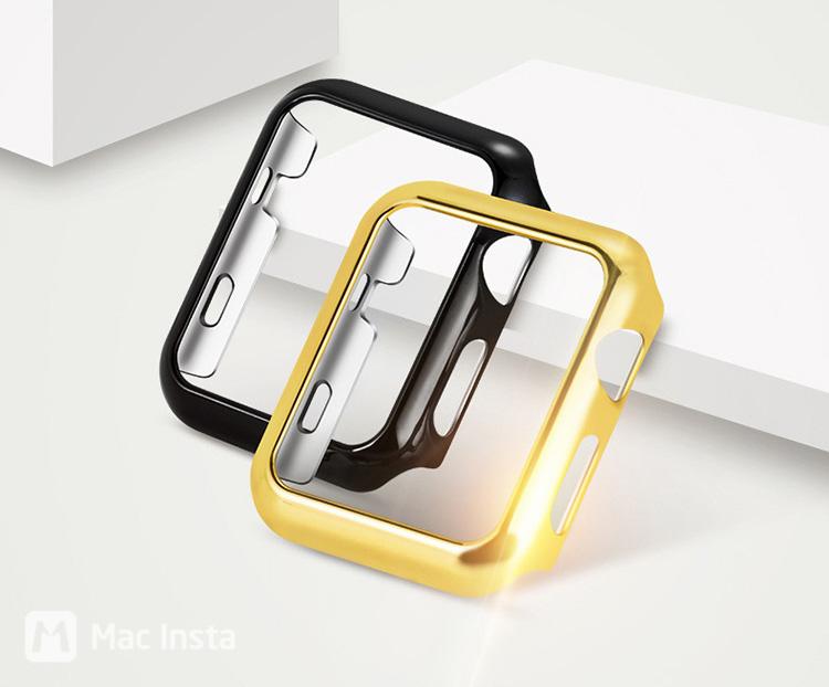 Ốp cho Apple Watch với 2 màu sắc vàng và đen sang trọng