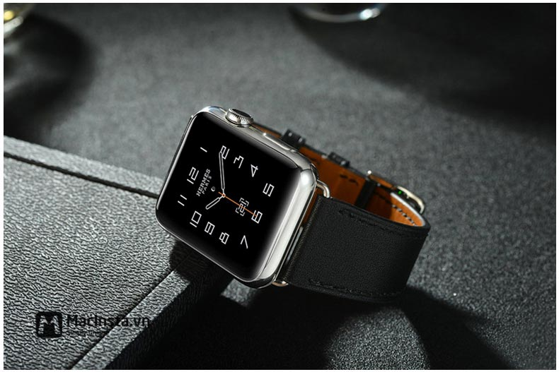 Dây da Apple Watch Hermès Single Tour tinh tế trong từng đường chỉ