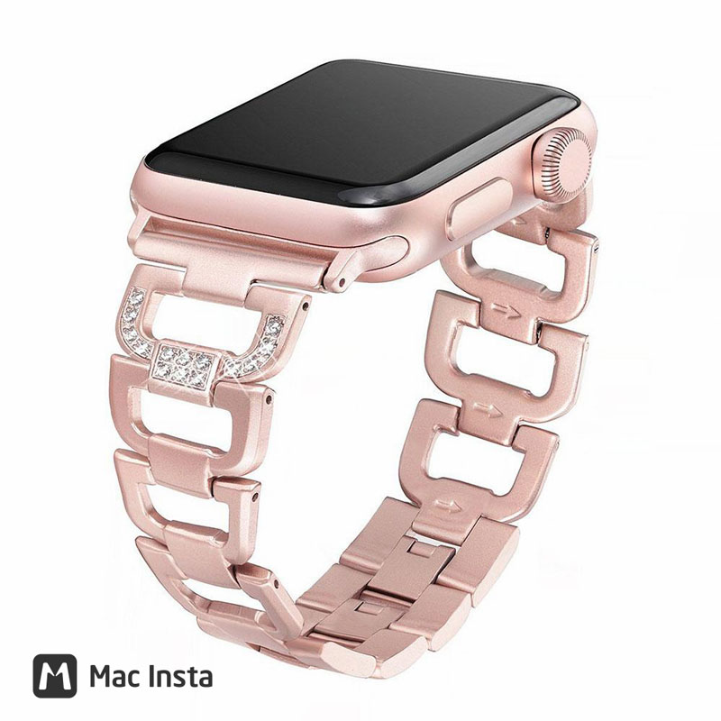 Dây Apple Watch cho nữ Glistening Stainless Steel
